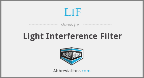 LIF - Light Interference Filter