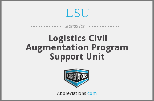 LSU - Logistics Civil Augmentation Program Support Unit