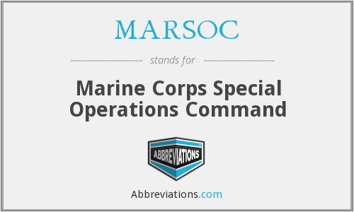 What does MARSOC stand for?