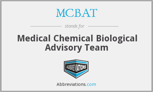 MCBAT - Medical Chemical Biological Advisory Team
