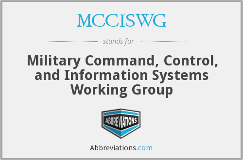 What does MCCISWG stand for?