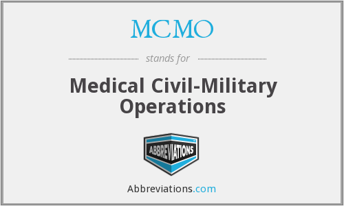 MCMO - Medical Civil-Military Operations
