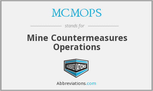 MCMOPS - Mine Countermeasures Operations