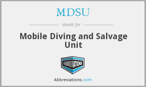 MDSU - Mobile Diving and Salvage Unit
