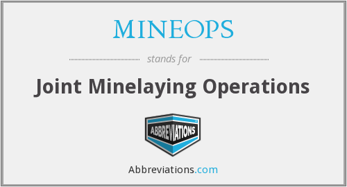 MINEOPS - Joint Minelaying Operations