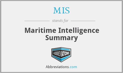 MIS - Maritime Intelligence Summary