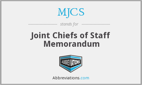 What does MJCS stand for?