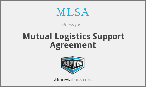 MLSA - Mutual Logistics Support Agreement