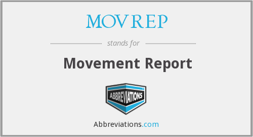 What does MOVREP stand for?