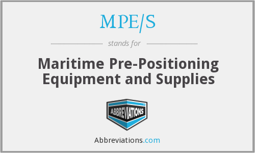What does MPE/S stand for?