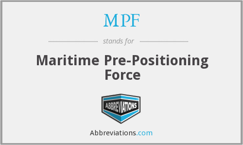 MPF - Maritime Pre-Positioning Force
