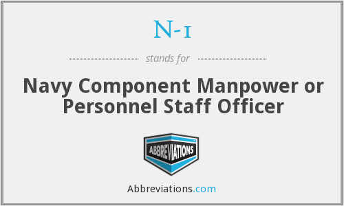 N-1 - Navy Component Manpower or Personnel Staff Officer