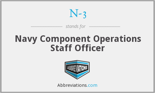 N-3 - Navy Component Operations Staff Officer