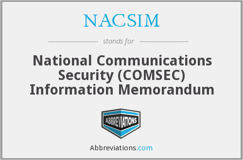 What does NACSIM stand for?