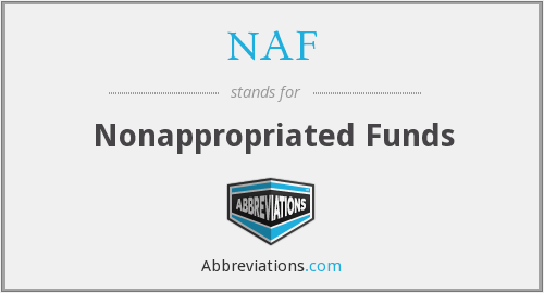NAF - Nonappropriated Funds