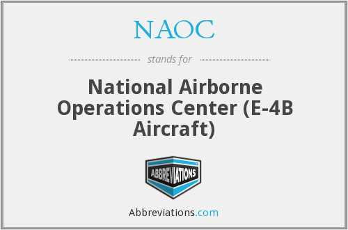 NAOC - National Airborne Operations Center (E-4B Aircraft)