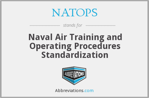 NATOPS - Naval Air Training and Operating Procedures Standardization