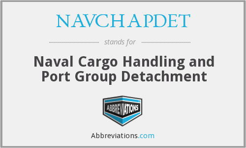 What does NAVCHAPDET stand for?