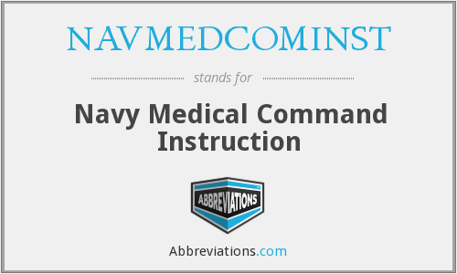 What does NAVMEDCOMINST stand for?