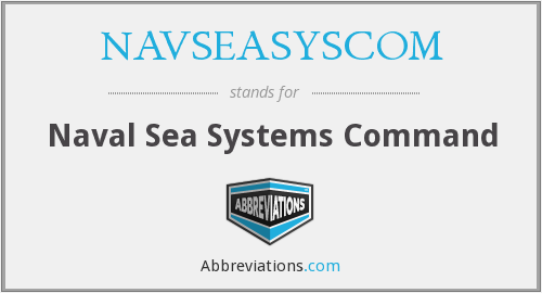 What does NAVSEASYSCOM stand for?