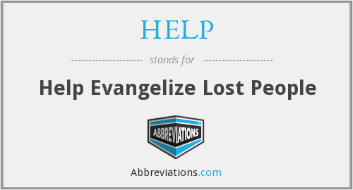 HELP - Help Evangelize Lost People