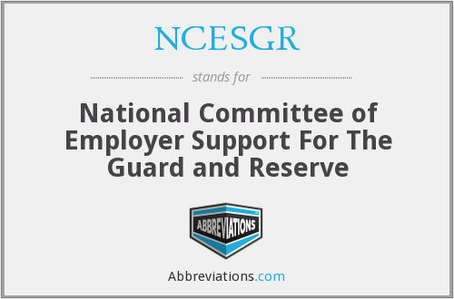 NCESGR - National Committee of Employer Support For The Guard and Reserve