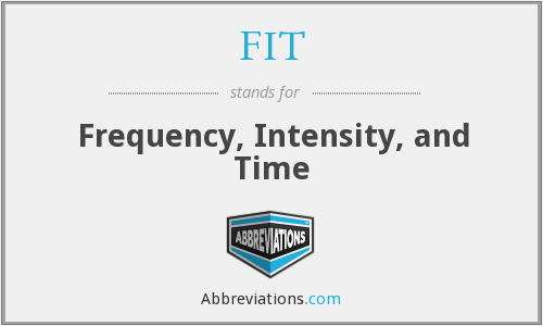 FIT - Frequency, Intensity, and Time