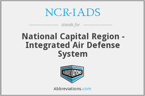 NCR-IADS - National Capital Region - Integrated Air Defense System