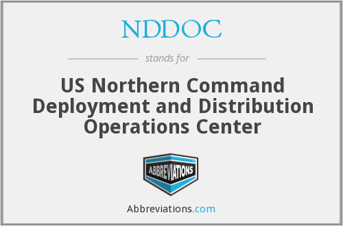 NDDOC - US Northern Command Deployment and Distribution Operations Center