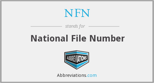 NFN - National File Number