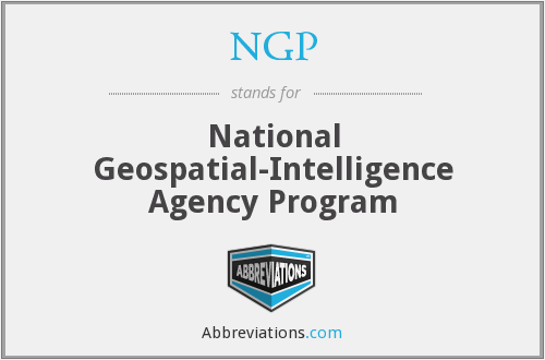 NGP - National Geospatial-Intelligence Agency Program