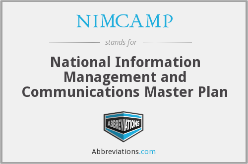 What does NIMCAMP stand for?
