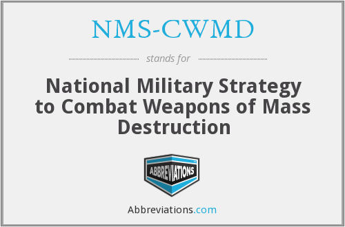 What does NMS-CWMD stand for?