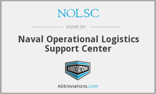 NOLSC - Naval Operational Logistics Support Center