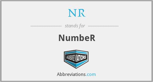 NR - NumbeR