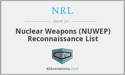 NRL - Nuclear Weapons (NUWEP) Reconnaissance List