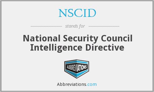 What does NSCID stand for?