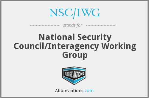What does NSC/IWG stand for?
