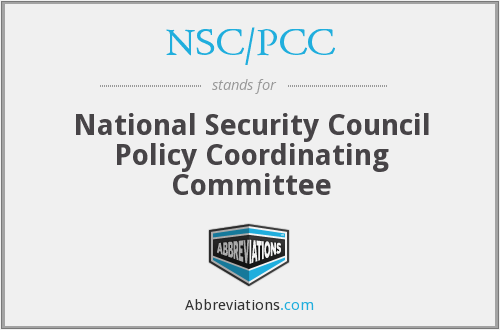 What does NSC/PCC stand for?