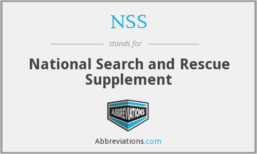 NSS - National Search and Rescue Supplement