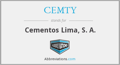 What does CEMTY stand for?