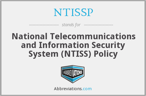What does NTISSP stand for?
