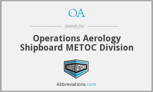 OA - Operations Aerology Shipboard METOC Division
