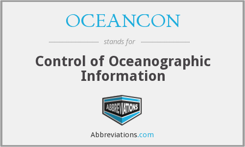 What does OCEANCON stand for?
