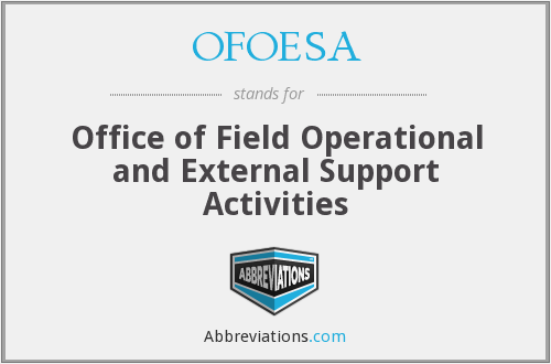 What does OFOESA stand for?