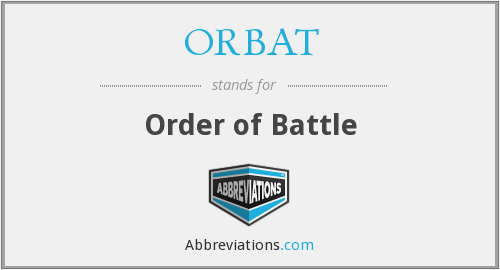 What does ORBAT stand for?