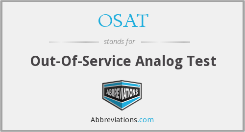 OSAT - Out-Of-Service Analog Test