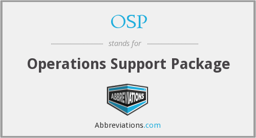 OSP - Operations Support Package