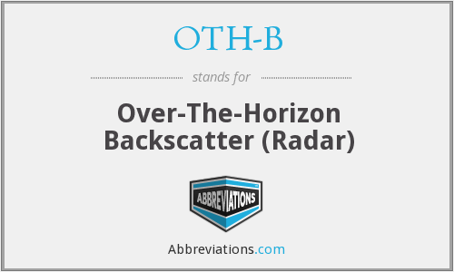 OTH-B - Over-The-Horizon Backscatter (Radar)