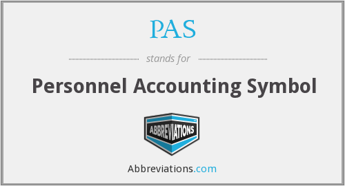 PAS - Personnel Accounting Symbol